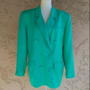 Vintage - Dior Teal Green Double Breasted Blazer